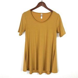 LuLaRoe Perfect T Mustard Yellow XS